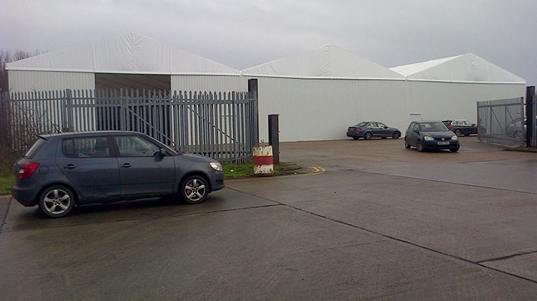 Temporary Storage Structures – Felixstowe